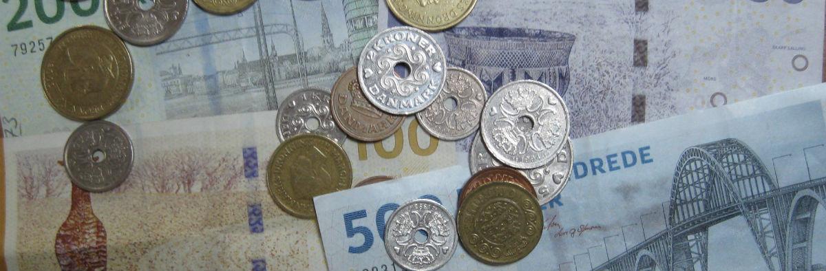 Penge fordelt på baggrund af budget